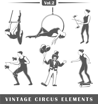 Set of elements of the circus