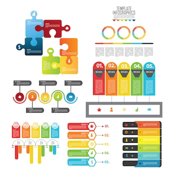 Set elements for infographic