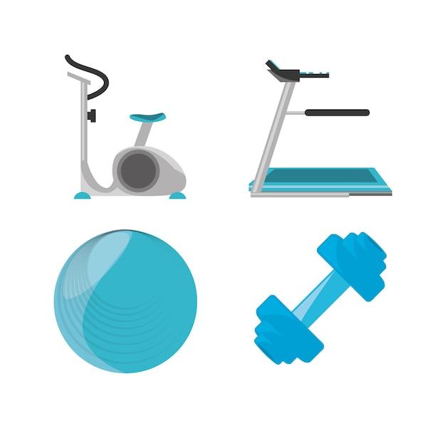 Набор элементов для упражнений и диетических растений