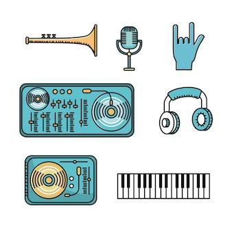 음악을 듣고 연주하기위한 요소 설정