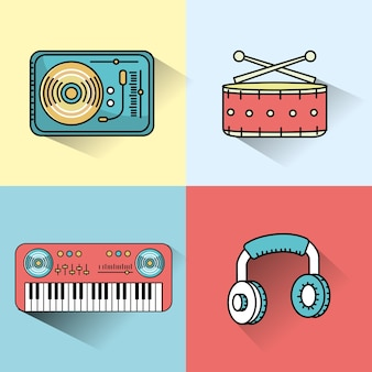 Set elements to listen and play music