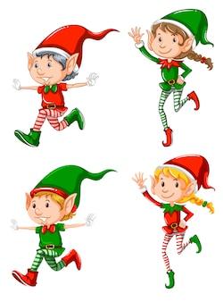 Set of elf character