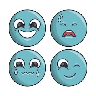 Множество смайликов разные чувства и выражение