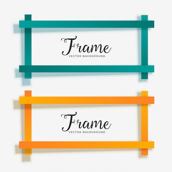 3ec3f94f814f Set of empty geometric frame banner