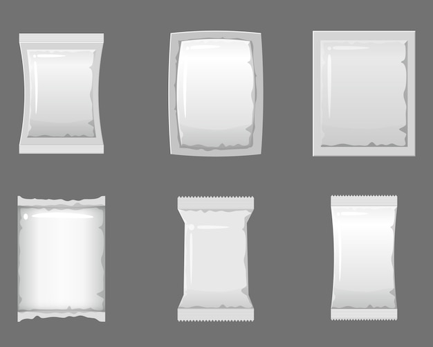 Set empty plastic packaging and vacuum containers to storage for food products