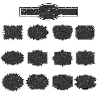 Set of empty stamps.