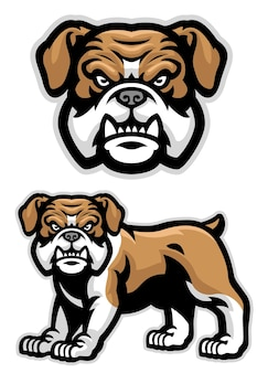 Set of english buldog mascot