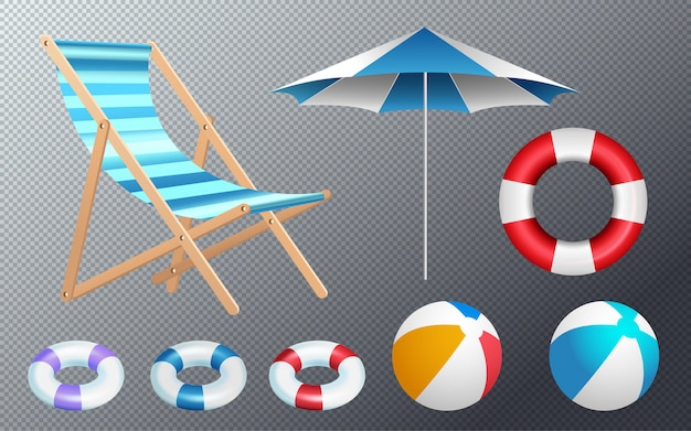 Set of equipment and accessories for swimming pool
