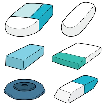 Set of eraser