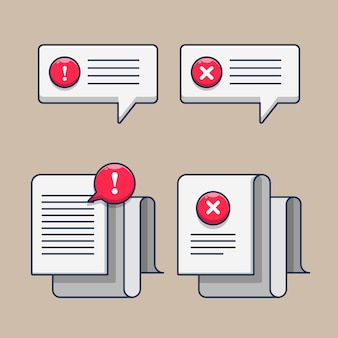 문서 아이콘 그림에 오류 메시지 설정