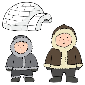 Set of eskimo