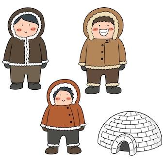 Set of eskimo