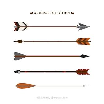 Insieme delle frecce etnici in design piatto