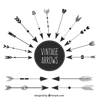 Set of ethnic vintage arrows
