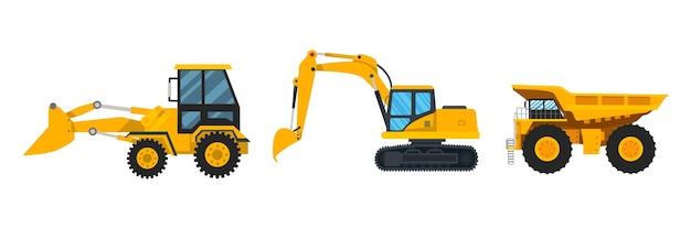 Set of excavators