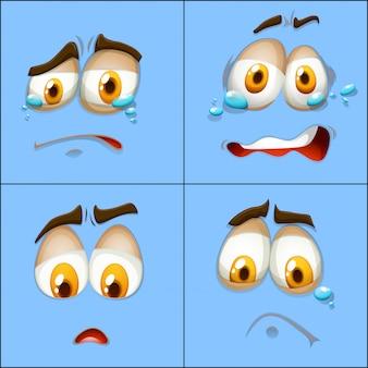 Set of facial expression