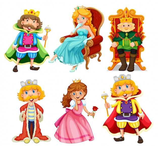 Set of fantasy cartoon character