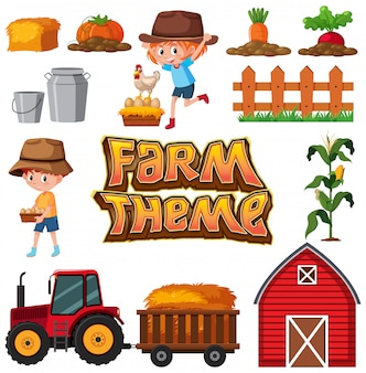 Set of farm element