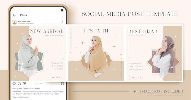 Set of fashion social media post template