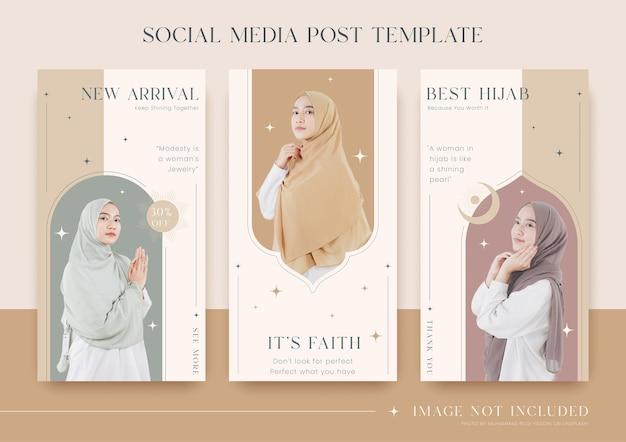 Set of fashion social media story template