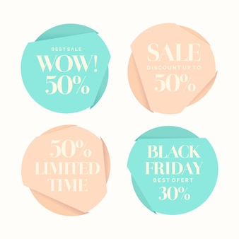 Set of fashion stickers sales and discounts