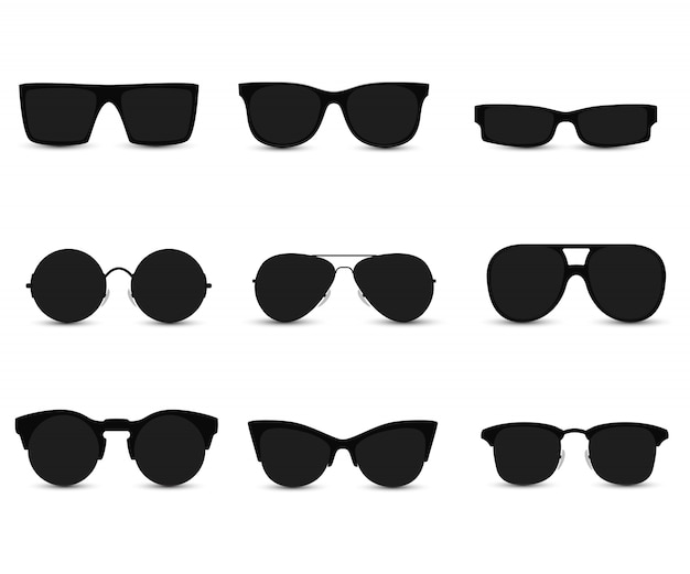 Set of fashionable sunglasses