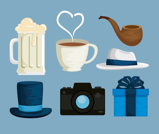 Set father accessories to celebrate special day
