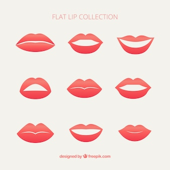 Set female lips