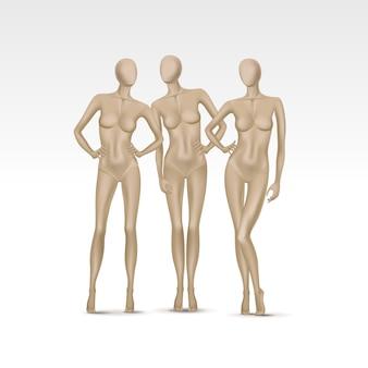 Set of female mannequins