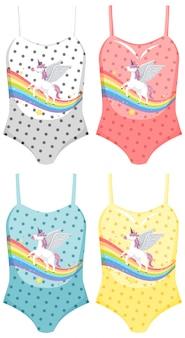 Set of female swimsuit
