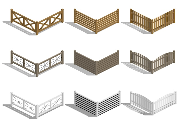 Set fence sections