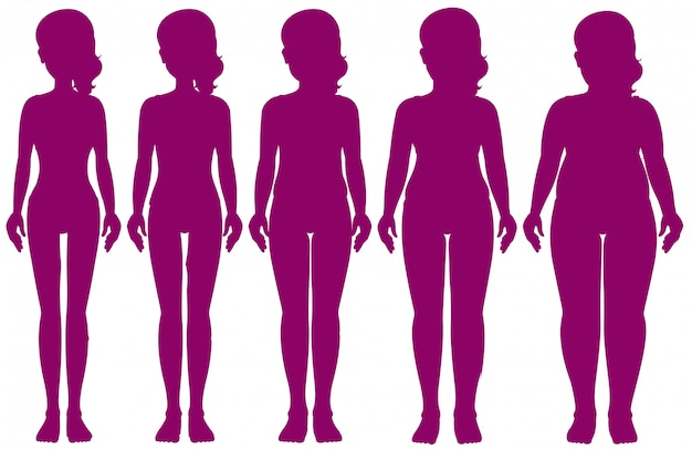 Set of figures of different weight