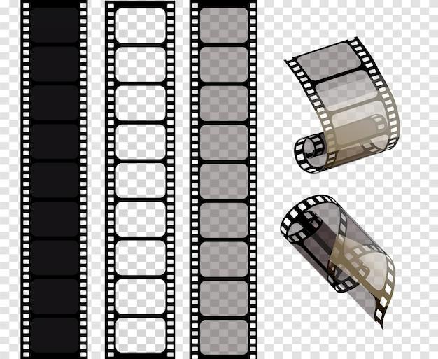 Set of film strips illustration