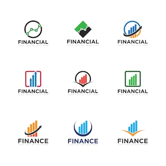 Set finance logo and icon vector illustration