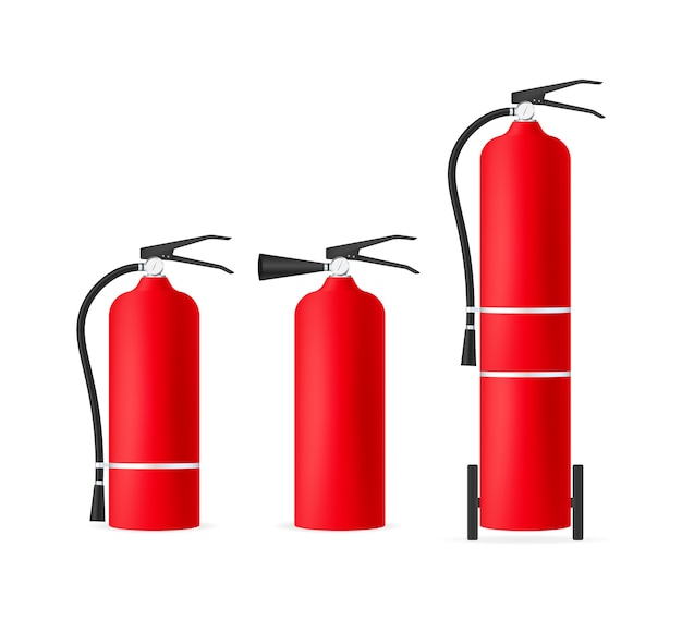 Set of fire extinguishers