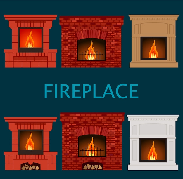 Set of fireplaces.