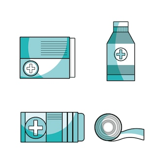Set first aid tools to help people