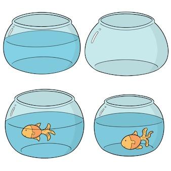 Set of fish bowl