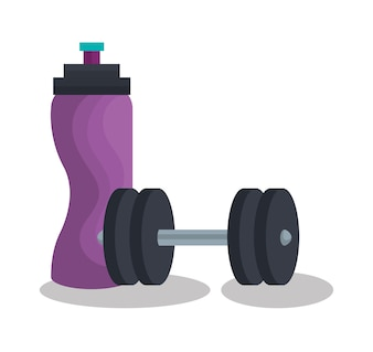 Set fitness equipment icon vector illustration design