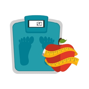 Set fitness equipment icon