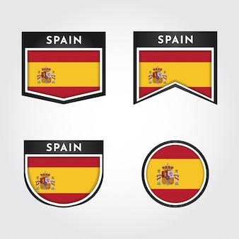 Set flag of spain with labels