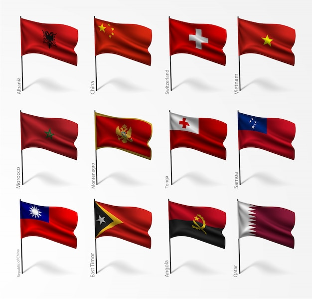 Set of flags of all countries
