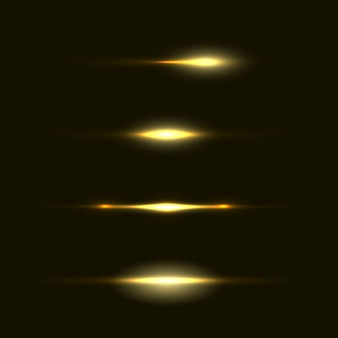 Set of flashes, lights and sparks. abstract golden lights isolated on a transparent background. bright gold flashes and glares