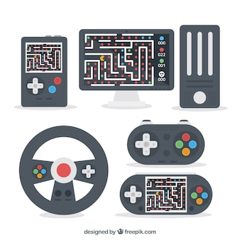 Set of flat accessories for players