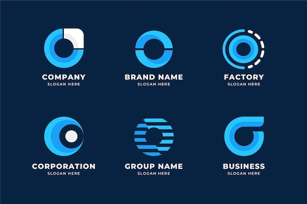 Set of flat o logo templates