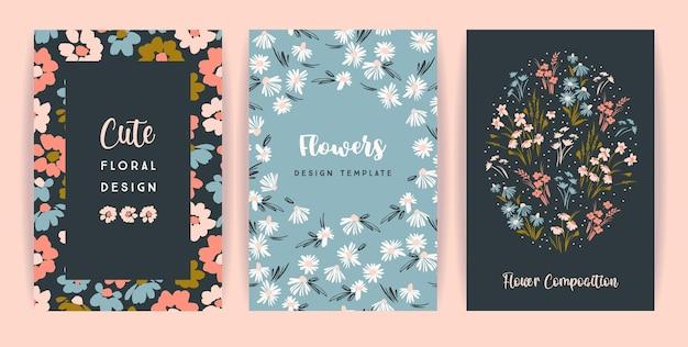 Set of floral cards