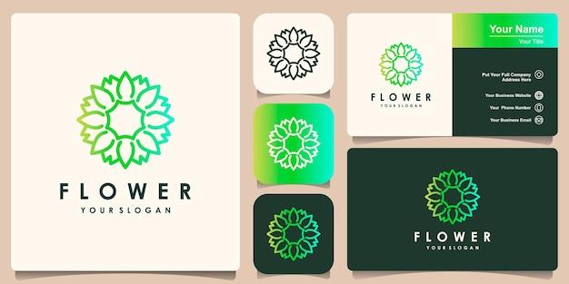 Set of flower logo design