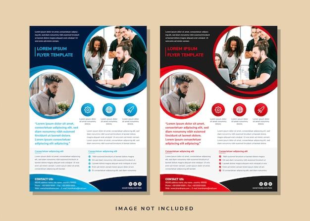 Set of flyer template design