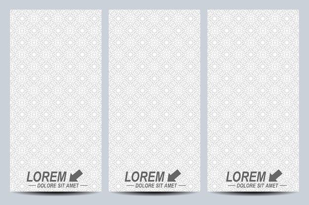 Set of flyers in arabian style
