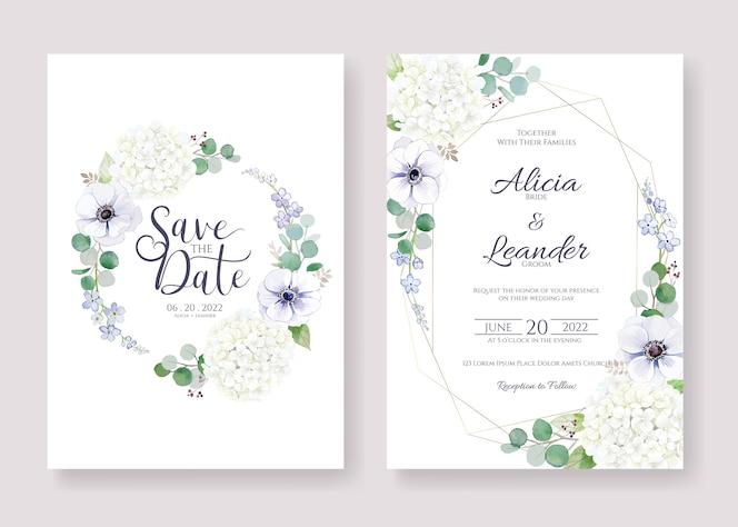 Установите для приглашения на свадьбу, сохраните шаблон даты карты.